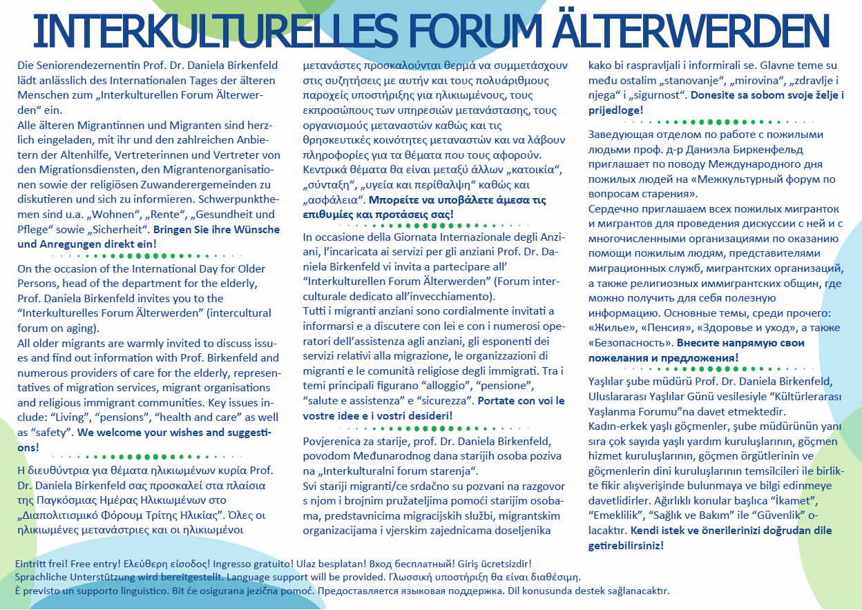 Interkulturelles Forum Flayer 2